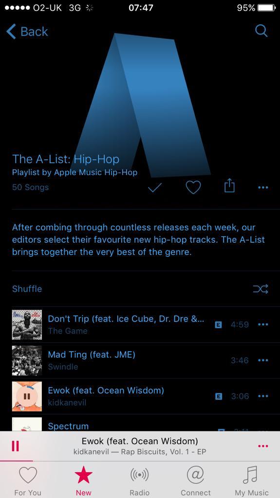 Ocean Wisdom Featured In Apple Music Hip Hop 'A-List' Playlist