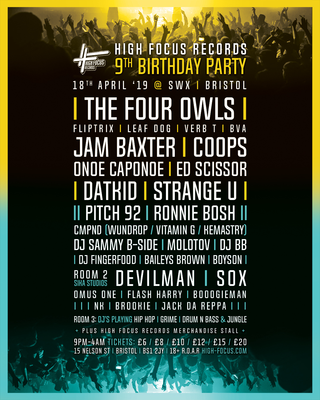 High Focus Records 9th Birthday Party Line Up Announced Official