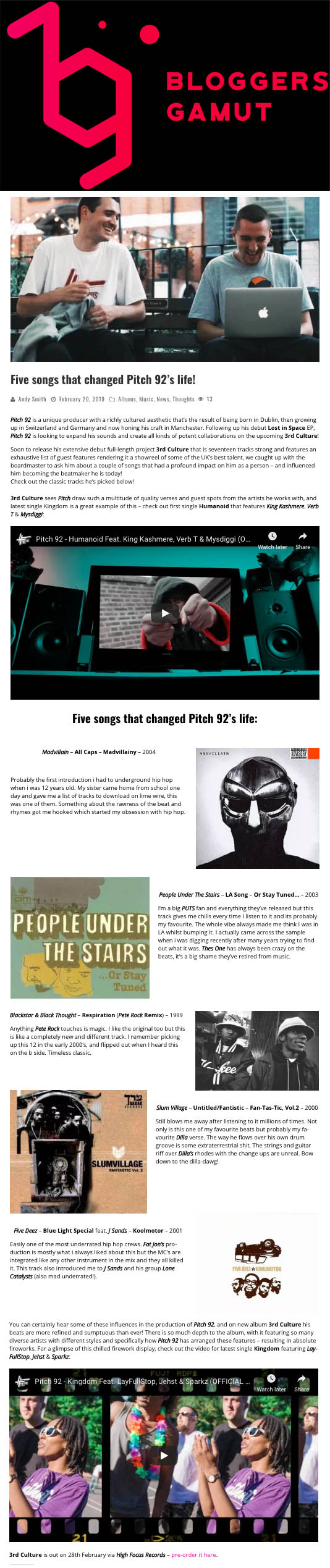 Pitch 92 5 Records That Changed My Life Bloggers Gamut Feature