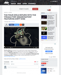 The Four Owls - 'Assassination' video featured on SBTV