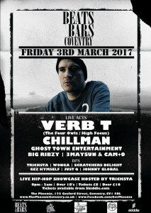 Verb T Live @ Beats & Bars, The Phoenix, Coventry
